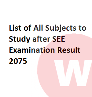 subjects to study after see examination result 2076
